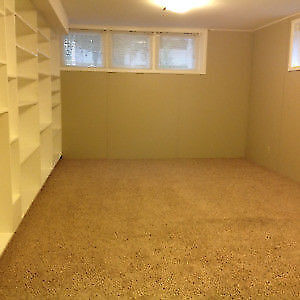 Spacious basement suite with tons of storage steps to CRH