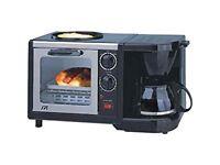 Breakfast Maker ! 3-in-1 Toaster oven, coffee machine, frying pan! Ideal for caravan, studio, etc