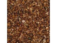 pea shingle gravel aggregates sand stones mini digger