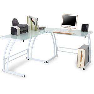 L Shaped Gl Computer Desk
