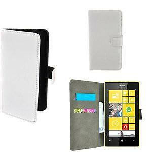 Nokia Lumia 530 hoesje book style wallet case wit