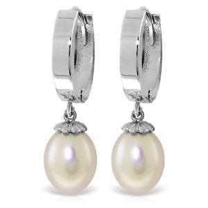 Omega Back Pearl Earrings