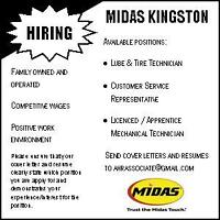 Career with Kingston Midas