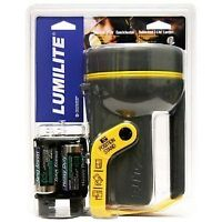 NEW - LUMILITE RUBBERIZED FLASHLIGHT - BATTERY INCLUDED