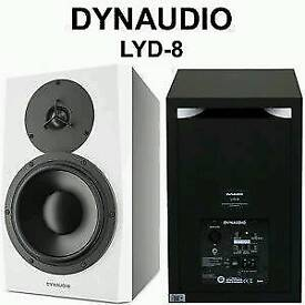 Pair of brand new Dynaudio LYD 8 monitors