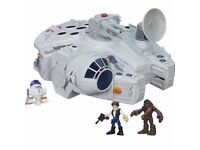 star wars Millinuim falcon with 7 figures (16)
