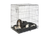 Pets at Home Single Door Dog Crate Medium Black ~ boxed used twice