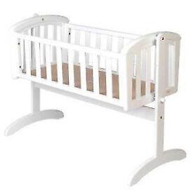 mothercare swinging crib,hyde crib,crib bale( bumper, sheet,coverlet) crib mattress
