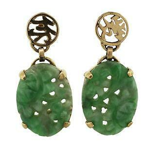 Vintage Green Jade Earrings