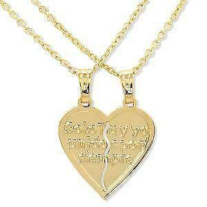 Couple necklace ebay heart couple necklaces aloadofball Images