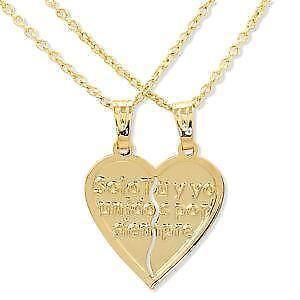 Couple necklace ebay heart couple necklaces mozeypictures Choice Image