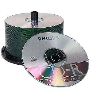 Philips 52x 700MB 80-Minute CD-R Media 50-Piece Spindle