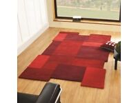 150cm x 240cm red collage rug