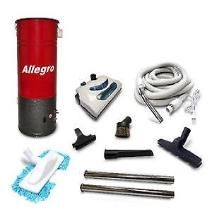Central Vacuum COMPACT Unit Allegro & 30' Electric Package $399