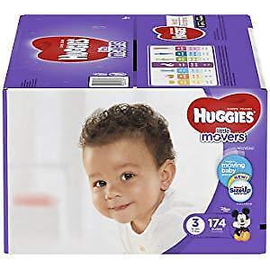 Huggies Little Movers Baby Diapers Size 3