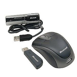 Microsoft - Wireless Notebook Optical Mouse & Webcam