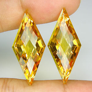 23.79 CT MATCHING! FANCY CUT ORANGE CITRINE