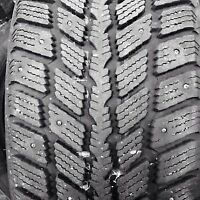 Selling 4 205/65/15 studded winter tire