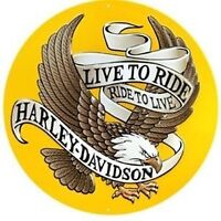"Harley Davidson ""Live To Ride"" Eagle Sign (New)"