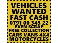 07910034522 SELL YOUR CAR VAN FOR CASH BUY MY SELL YOUR SCRAP best