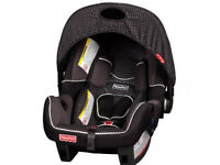 FISHER PRICE Deluxe Infant Car Seat/Baby carrier WITH raincover and sun canopy for Newborn and Above