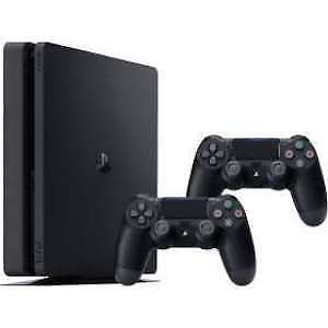 PlayStation 4 Slim (PS4) 1TB Package (console/controllers/games)