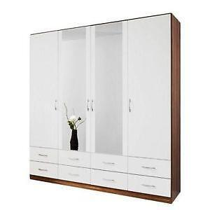 schlafzimmerschrank weiss kleiderschr nke ebay. Black Bedroom Furniture Sets. Home Design Ideas