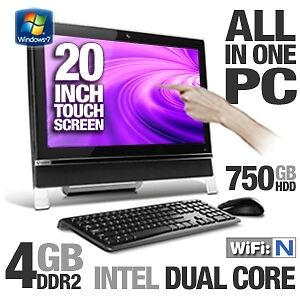 "20"" ALL-IN-ONE DESKTOP  WINDOWS 7 or 10 LIKE NEW in Factory Box!"