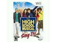 High school musical wii
