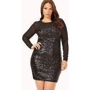 Forever21+ Black Sequin Party Dress Size 3X
