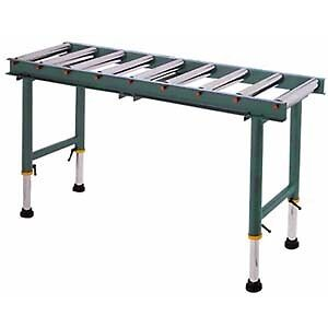 2 ADJUSTABLE  6' ROLLING OUTFEED TABLES