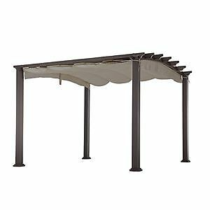 Steel Pergola with Retractable Canopy purchased from Home Depot