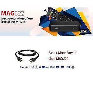 IPTV 4200+ LIVE CHANNELS ON MAG322 BOX+ SUB MONTHLY AS LOW AS $6