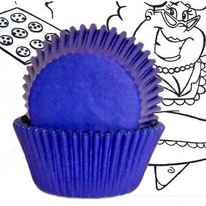 Royal blue cupcake liners from Golda's Kitchen London Ontario image 1
