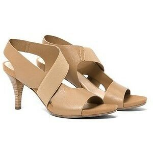New Nordstrom AQUATALIA Brennan Leather Sandals in Tan, Sz 8.5