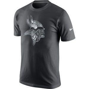 Women's Minnesota Vikings Nike Gray Stadium Football V-Neck Performance T-Shirt