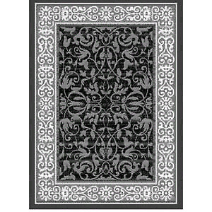 United Weavers Baroness Dallas Collection Grey Area Rug 8' X 11'