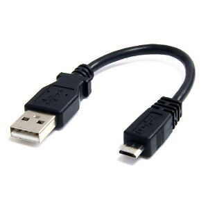 Micro-USB cable for cell phones - 8 inch short