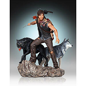Walking Dead Daryl & The Wolves Statue