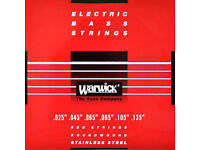 Warwick 25-135 6-String Stainless Steel Red Label Long Scale Bass Guitar Strings