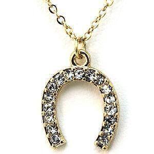 Horseshoe pendant ebay gold horseshoe pendants aloadofball Image collections