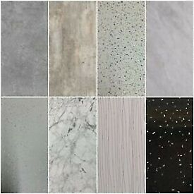 wet wall panels 10mm thick. 1m x 2.4m. available to