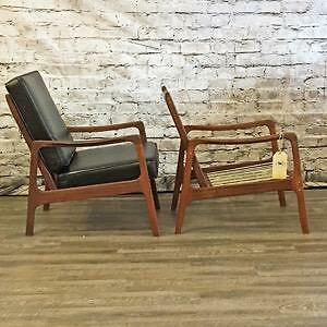 Mid Century Teak and Walnut Armchairs