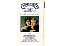 The Carpenters Only Yesterday vhs video