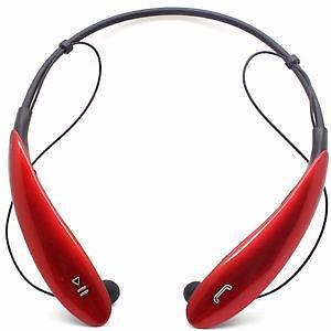 SUPERIOR FITTING WIRELESS HEADPHONES - HSB800 - RED COLOR - $ 50