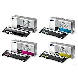 samsung clt k406s clt y406s toner clp 365w clp 410 clx. Black Bedroom Furniture Sets. Home Design Ideas