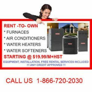 96% FURNACE, A/C, ATER HEATER, BOILER, FILTER, SOFTENER RTO