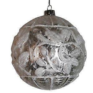 Christbaumkugeln silber christbaumschmuck ebay for Alte weihnachtsbaumkugeln