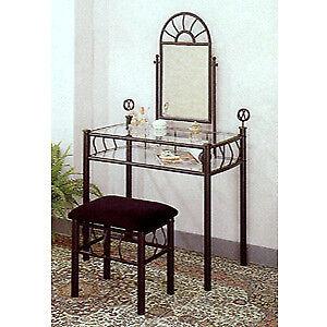 Black Iron Vanity Table