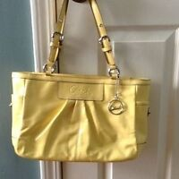 authentic coach yellow purse